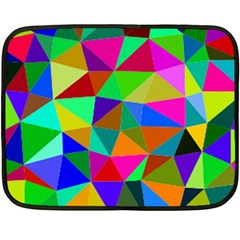 Colorful Triangles, Oil Painting Art Fleece Blanket (mini) by picsaspassion