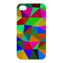 Colorful Triangles, Oil Painting Art Apple Iphone 4/4s Hardshell Case by picsaspassion