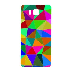 Colorful Triangles, Oil Painting Art Samsung Galaxy Alpha Hardshell Back Case by picsaspassion