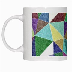 Colorful Triangles, Pencil Drawing Art White Mugs by picsaspassion