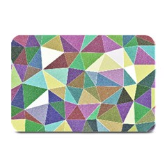 Colorful Triangles, Pencil Drawing Art Plate Mats