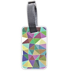 Colorful Triangles, Pencil Drawing Art Luggage Tags (one Side)  by picsaspassion