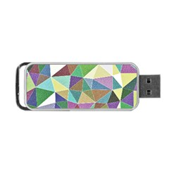 Colorful Triangles, Pencil Drawing Art Portable Usb Flash (two Sides) by picsaspassion