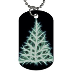 Christmas Fir, Green And Black Color Dog Tag (one Side) by picsaspassion