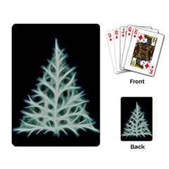 Christmas Fir, Green And Black Color Playing Card by picsaspassion