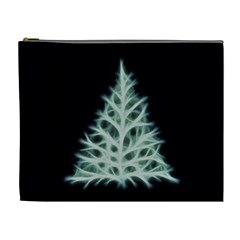 Christmas Fir, Green And Black Color Cosmetic Bag (xl) by picsaspassion