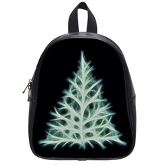 Christmas Fir, Green And Black Color School Bags (small)  by picsaspassion