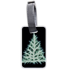 Christmas Fir, Green And Black Color Luggage Tags (one Side)  by picsaspassion