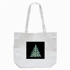 Christmas Fir, Green And Black Color Tote Bag (white) by picsaspassion
