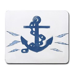Blue Anchor,  Aquarel Painting Art Large Mousepads by picsaspassion
