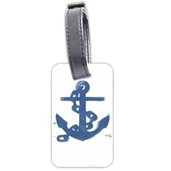 Blue Anchor,  Aquarel Painting Art Luggage Tags (one Side)  by picsaspassion