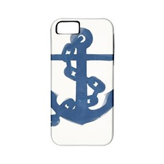 Blue Anchor,  Aquarel Painting Art Apple Iphone 5 Classic Hardshell Case (pc+silicone) by picsaspassion