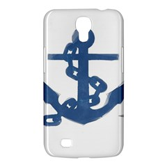 Blue Anchor,  Aquarel Painting Art Samsung Galaxy Mega 6 3  I9200 Hardshell Case by picsaspassion