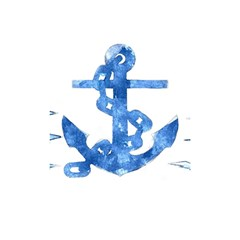 Anchor Aquarel Painting Art, Soft Blue Shower Curtain 48  X 72  (small)  by picsaspassion