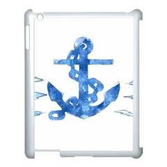 Anchor Aquarel Painting Art, Soft Blue Apple Ipad 3/4 Case (white) by picsaspassion