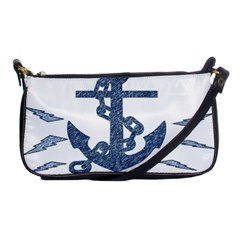 Anchor Pencil Drawing Art Shoulder Clutch Bags by picsaspassion