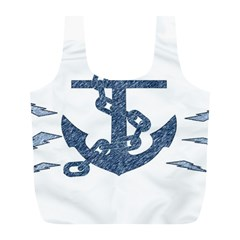 Anchor Pencil Drawing Art Full Print Recycle Bags (l)  by picsaspassion
