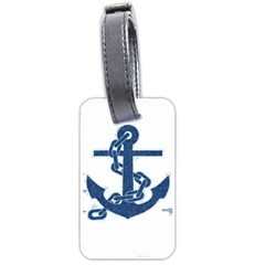 Blue Anchor Oil Painting Art Luggage Tags (one Side)  by picsaspassion