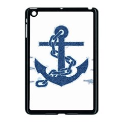 Blue Anchor Oil Painting Art Apple Ipad Mini Case (black) by picsaspassion