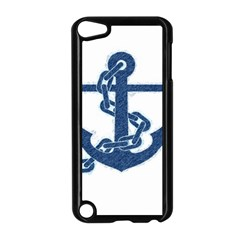 Blue Anchor Oil Painting Art Apple Ipod Touch 5 Case (black) by picsaspassion