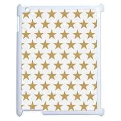 Golden Stars Pattern Apple Ipad 2 Case (white) by picsaspassion
