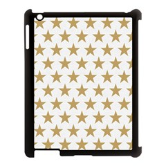 Golden Stars Pattern Apple Ipad 3/4 Case (black) by picsaspassion