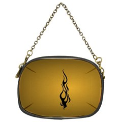 Flame Black, Golden Background Chain Purses (two Sides)  by picsaspassion