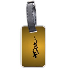 Flame Black, Golden Background Luggage Tags (one Side)  by picsaspassion
