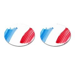 Tricolor Banner France Cufflinks (oval) by picsaspassion
