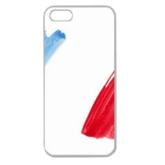 Tricolor Banner France Apple Seamless Iphone 5 Case (clear) by picsaspassion