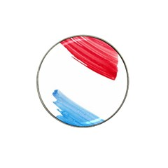 Tricolor Banner Watercolor Painting, Red Blue White Hat Clip Ball Marker (10 Pack) by picsaspassion