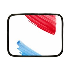 Tricolor Banner Watercolor Painting, Red Blue White Netbook Case (small)  by picsaspassion