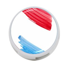 Tricolor Banner Watercolor Painting, Red Blue White 4 Port Usb Hub (one Side) by picsaspassion