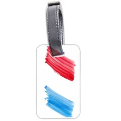 Tricolor Banner Watercolor Painting, Red Blue White Luggage Tags (two Sides) by picsaspassion