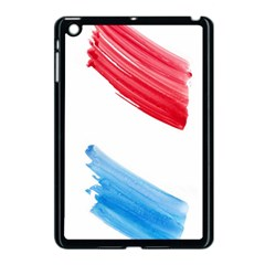 Tricolor Banner Watercolor Painting, Red Blue White Apple Ipad Mini Case (black) by picsaspassion