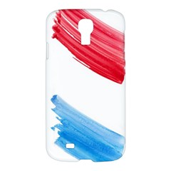 Tricolor Banner Watercolor Painting, Red Blue White Samsung Galaxy S4 I9500/i9505 Hardshell Case by picsaspassion
