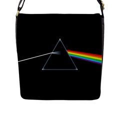 Pink Floyd  Flap Messenger Bag (l)  by Brittlevirginclothing