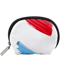 Tricolor Banner Watercolor Painting, Red Blue White Accessory Pouches (small)  by picsaspassion