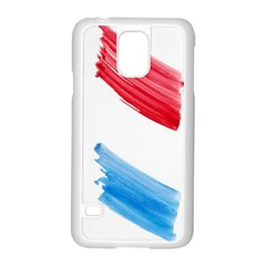 Tricolor Banner Watercolor Painting, Red Blue White Samsung Galaxy S5 Case (white) by picsaspassion