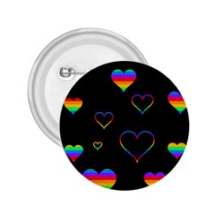 Rainbow Harts 2 25  Buttons by Valentinaart