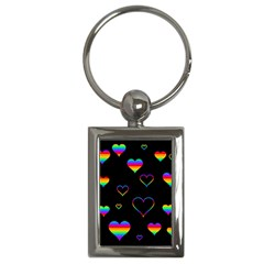 Rainbow Harts Key Chains (rectangle)  by Valentinaart