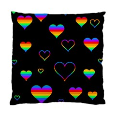 Rainbow Harts Standard Cushion Case (two Sides) by Valentinaart