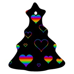 Rainbow Harts Ornament (christmas Tree) by Valentinaart
