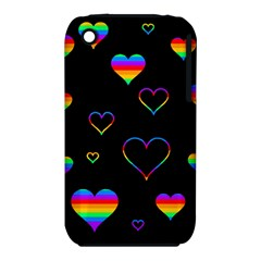 Rainbow Harts Iphone 3s/3gs by Valentinaart