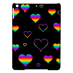 Rainbow Harts Ipad Air Hardshell Cases by Valentinaart