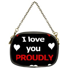 I Love You Proudly Chain Purses (one Side)  by Valentinaart