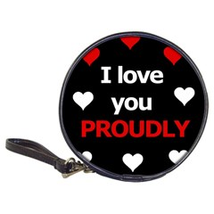 I Love You Proudly Classic 20 Cd Wallets by Valentinaart