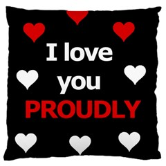 I Love You Proudly Standard Flano Cushion Case (one Side) by Valentinaart