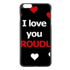 I Love You Proudly Apple Iphone 6 Plus/6s Plus Black Enamel Case