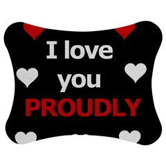 I Love You Proudly Jigsaw Puzzle Photo Stand (bow) by Valentinaart